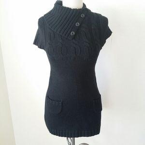 Nwt- Tunic Knit Black Sweater Small